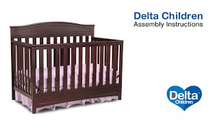 Delta Children Emery 4-in-1 Crib Assembly Video