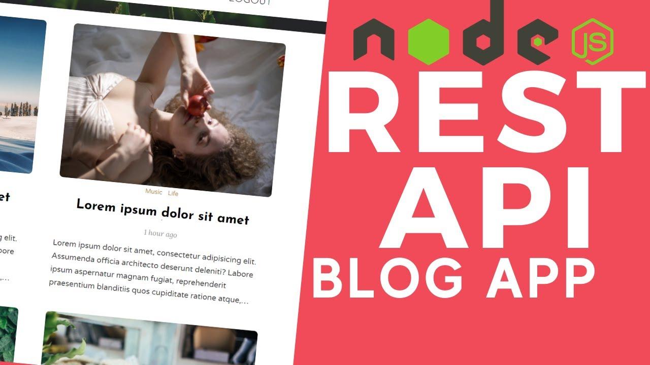 Node.js Blog App REST API with MongoDB