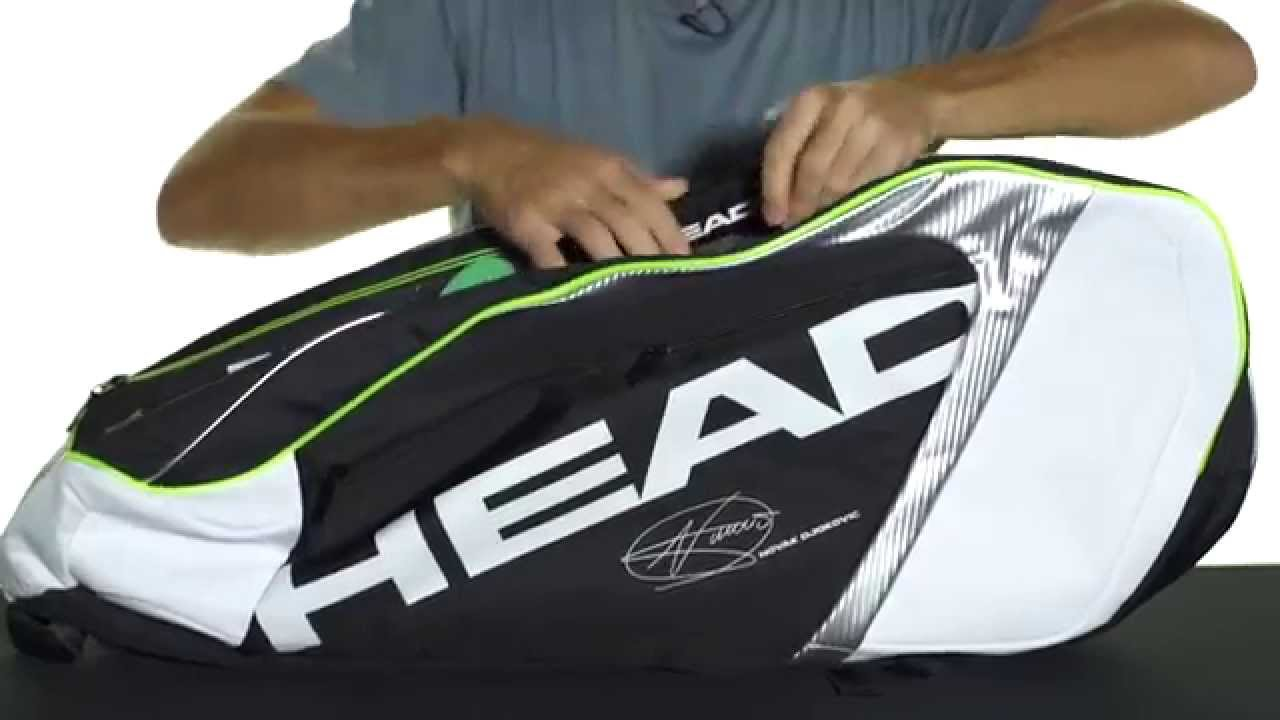 8f50d564e0 Head Djokovic Series 9R Supercombi Bag (2015) - YouTube