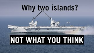Why Queen Elizabeth Carriers Have Twin Islands?