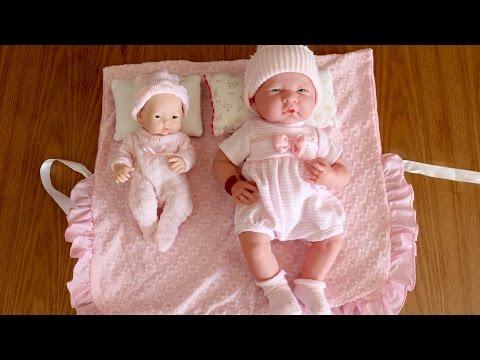 Real looking La Newborn Baby dolls - Baby Dolls Bottle Feeding Rocking Cradle Sleeping Pram Walking