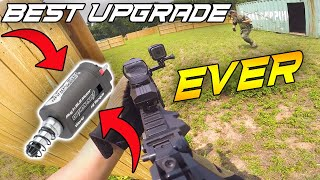 THIS GUN IS JUST NUTS!   Option No. 1 Brushless Motor   (Airsoft Gameplay)