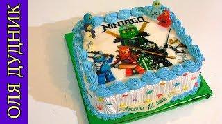 Торт Ниндзяго Как нанести вафельную картинку на торт Ninjago Cake