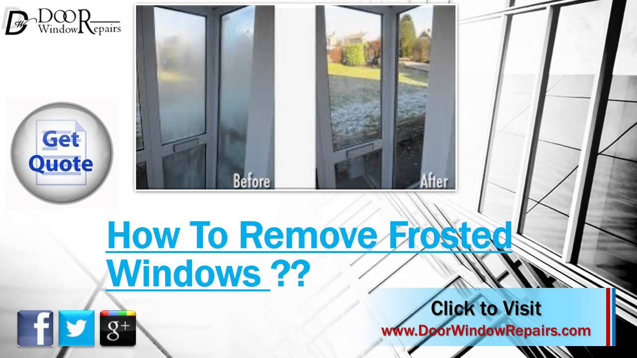 how do i remove frosting spray from glass window youtube. Black Bedroom Furniture Sets. Home Design Ideas