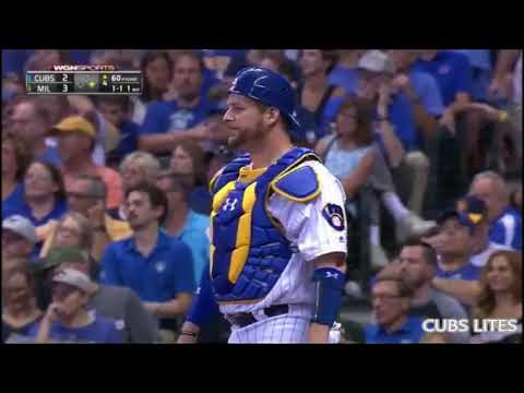 Chicago Cubs 5-4 Milwaukee Brewers Highlights MLB 9/22/17