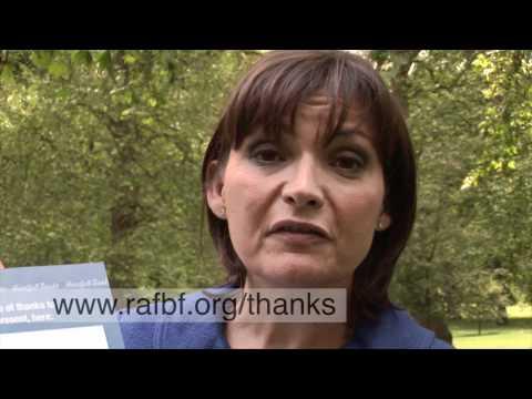 Lorraine Kelly launches the RAF Benevolent Fund's Heartfelt Thanks Campaign