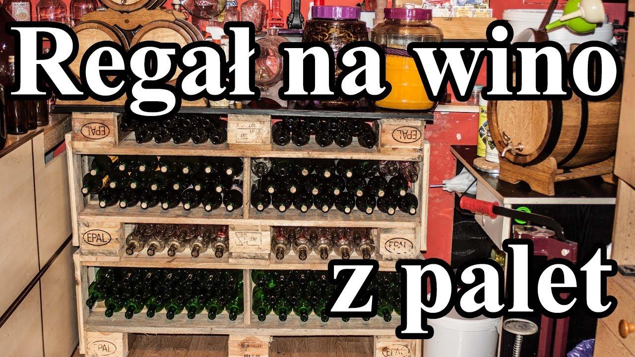 Diy Regał Na Butelki Wino Z Palet Tanio I Solidnie Drewniany Regał Na Butelki Zrób To Sam