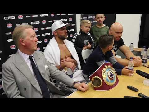 BILLY JOE SAUNDERS v WILLIE MONROE JR - *FULL* POST FIGHT PRESS CONFERENCE (WITH FRANK WARREN)