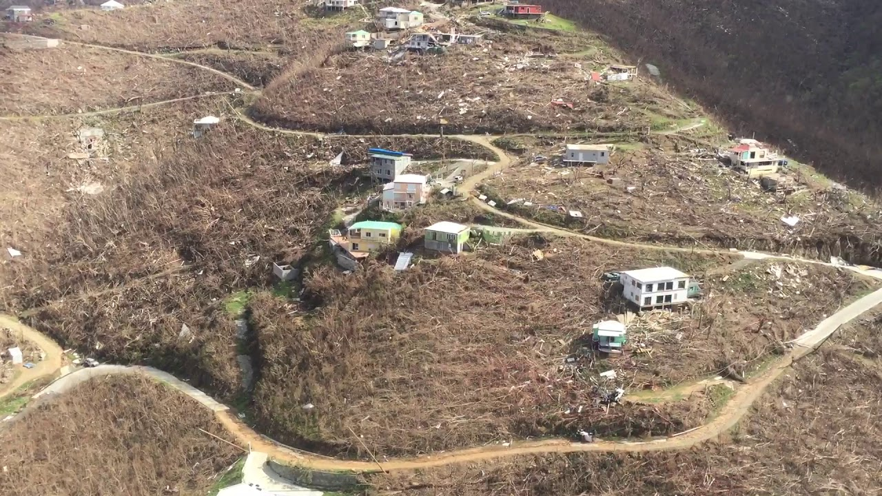 Hurricane Irma Close To Coral Bay St John Island