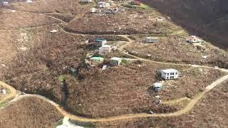 9/17/17 Aerial Footage Love City Coral Bay St John USVI after Hurricane Irma