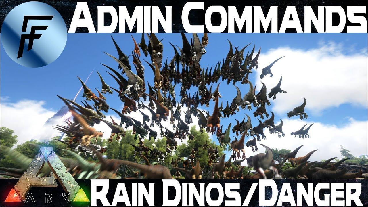 Rain Dinos and Rain Danger Admin Command - ARK: Survival Evolved