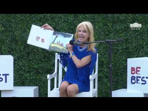 White House Easter Egg Roll Reading Nook - Counselor to the President Kellyanne Conway