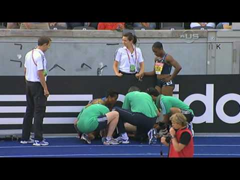 Muna Lee injured in relay - from Universal Sports