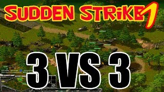Old school WW2 strategy RTS game Sudden Strike forever [Multiplayer 3 vs 3] (No commentary)
