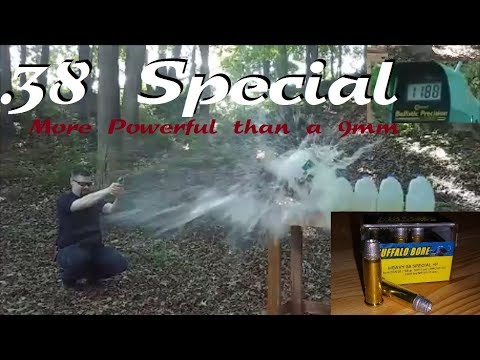 38 Special - More POWERFUL than 9mm? (Buffalo Bore  38