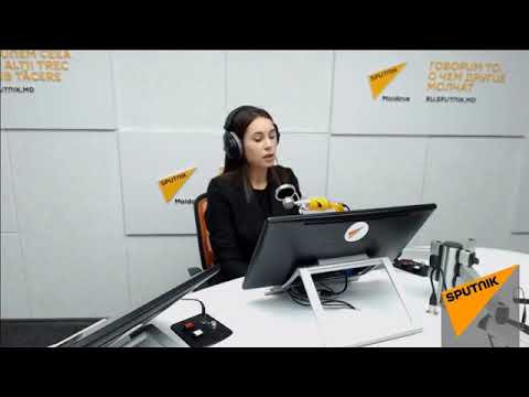Președintele PCRM  Vladimir Voronin în studioul radio Sputnik Moldova