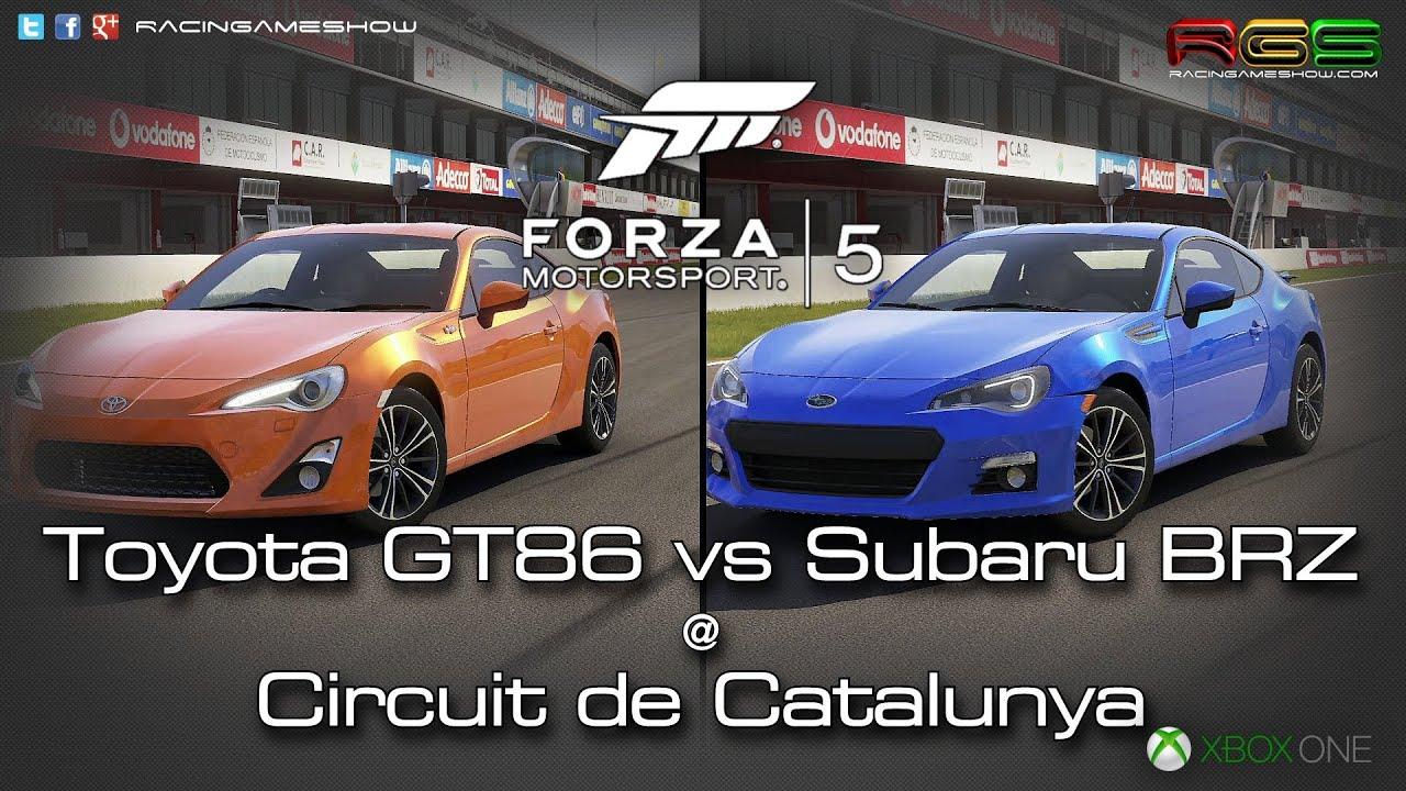 Brz Vs Wrx >> Forza Motorsport 5: Twin Fight - Subaru BRZ vs Toyota GT86 @ Catalunya. - YouTube