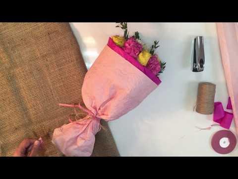 Как оригинально упаковать букет цветов | How To Wrap A Bouquet Of Flowers | ArtHolidays