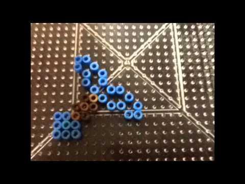 Minecraft Diamond Sword Perler Beads Tutorial
