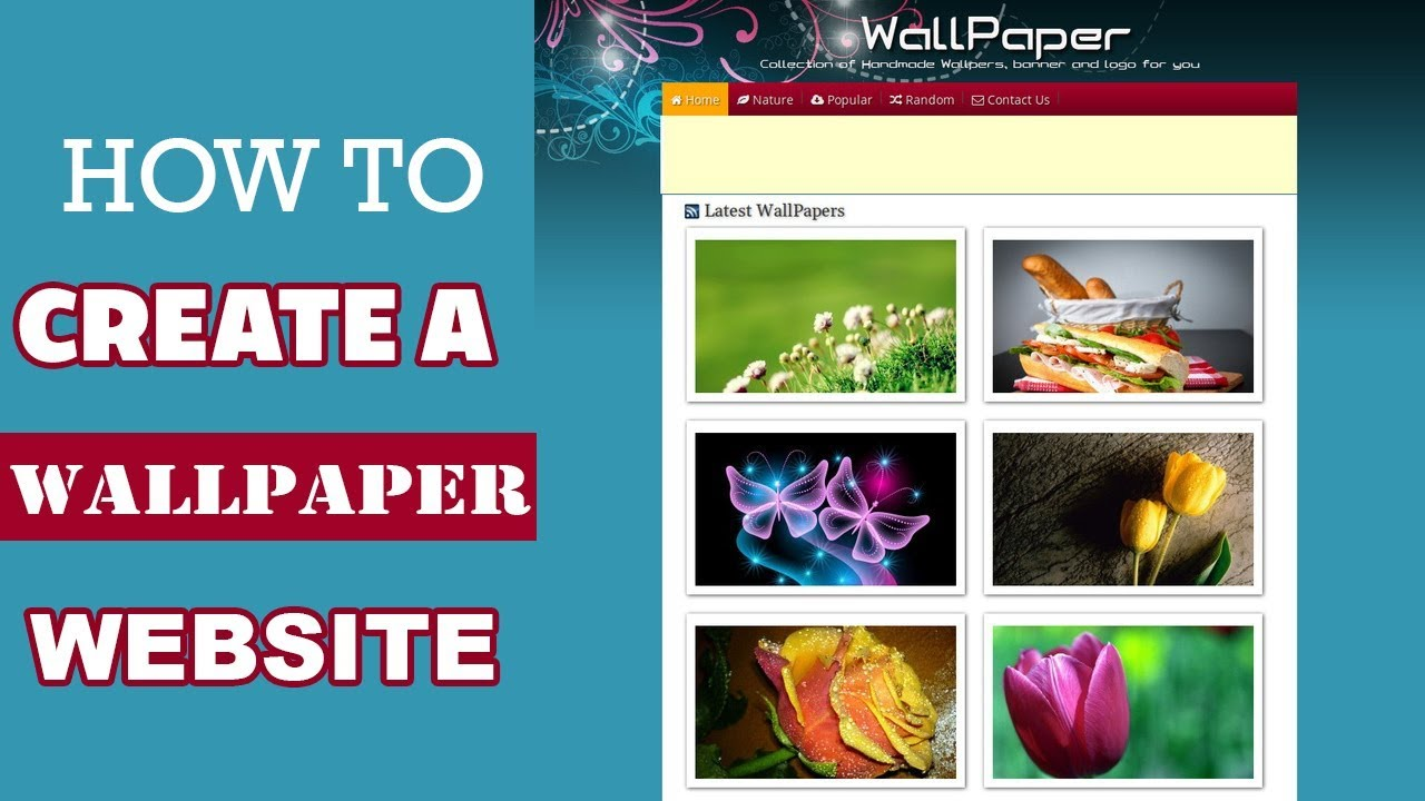 how to make hd wallpaper website with wordpress - youtube