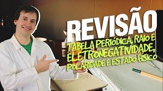 Tabela Periódica, Raio e Eletronegatividade, Polaridade e Estado Físico - Revisão thumbnail