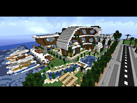 Minecraft maisons modernes villas de luxe youtube for Hotel avec piscine interieur