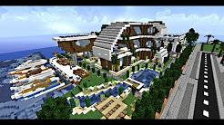 Minecraft-Maison moderne / villa de luxe ! - YouTube