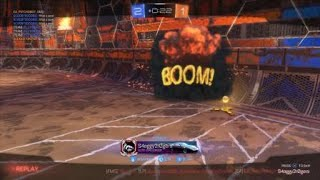 Rocket League® Nasty Overtime shot