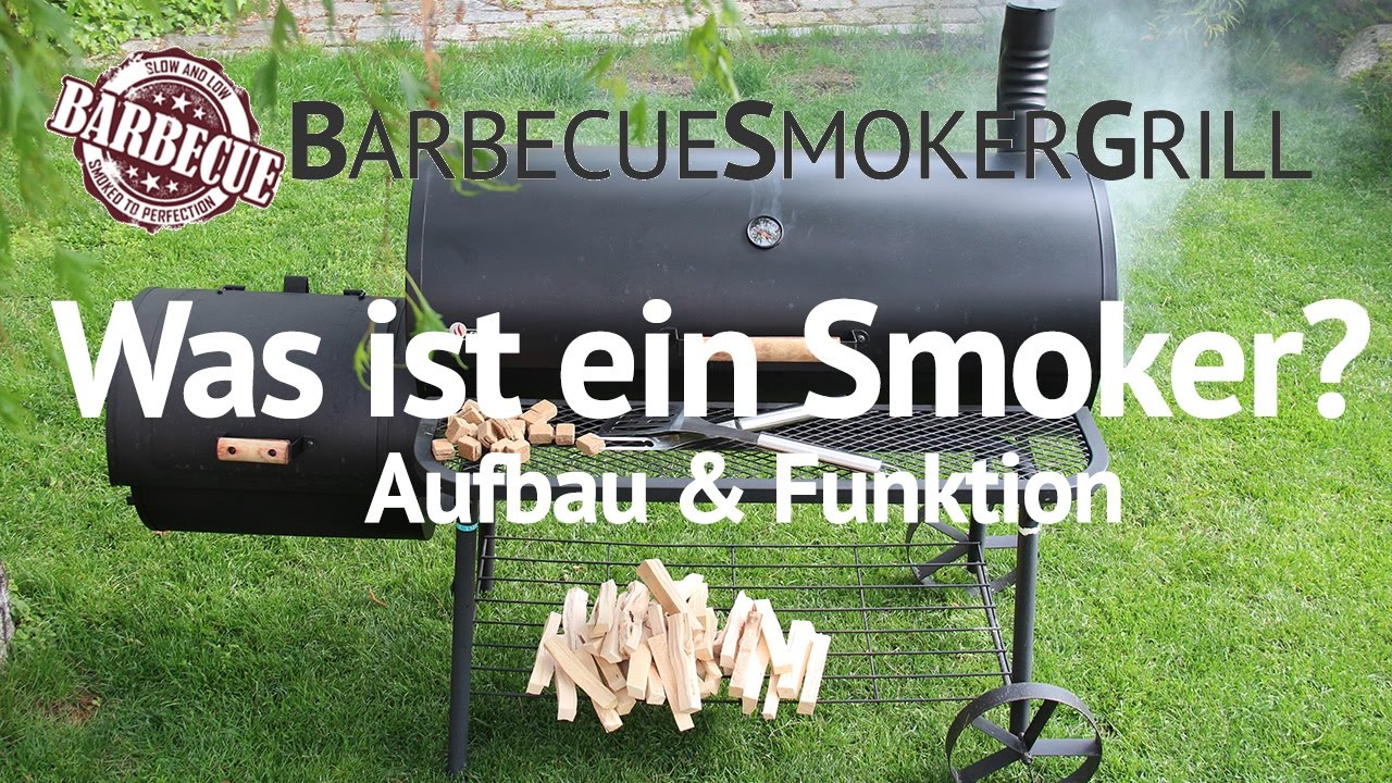 was ist ein barbecue smoker grill aufbau funktion youtube. Black Bedroom Furniture Sets. Home Design Ideas