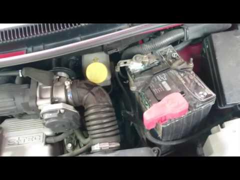 Limpiar bornes y mantenimiento de batería chevrolet Spark
