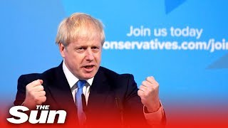 Boris Johnson's victory speech as he wins Conservative leadership contest