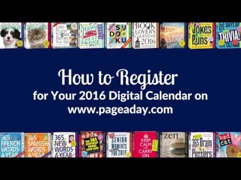 Register for your 2016 Page-A-Day Digital Calendar