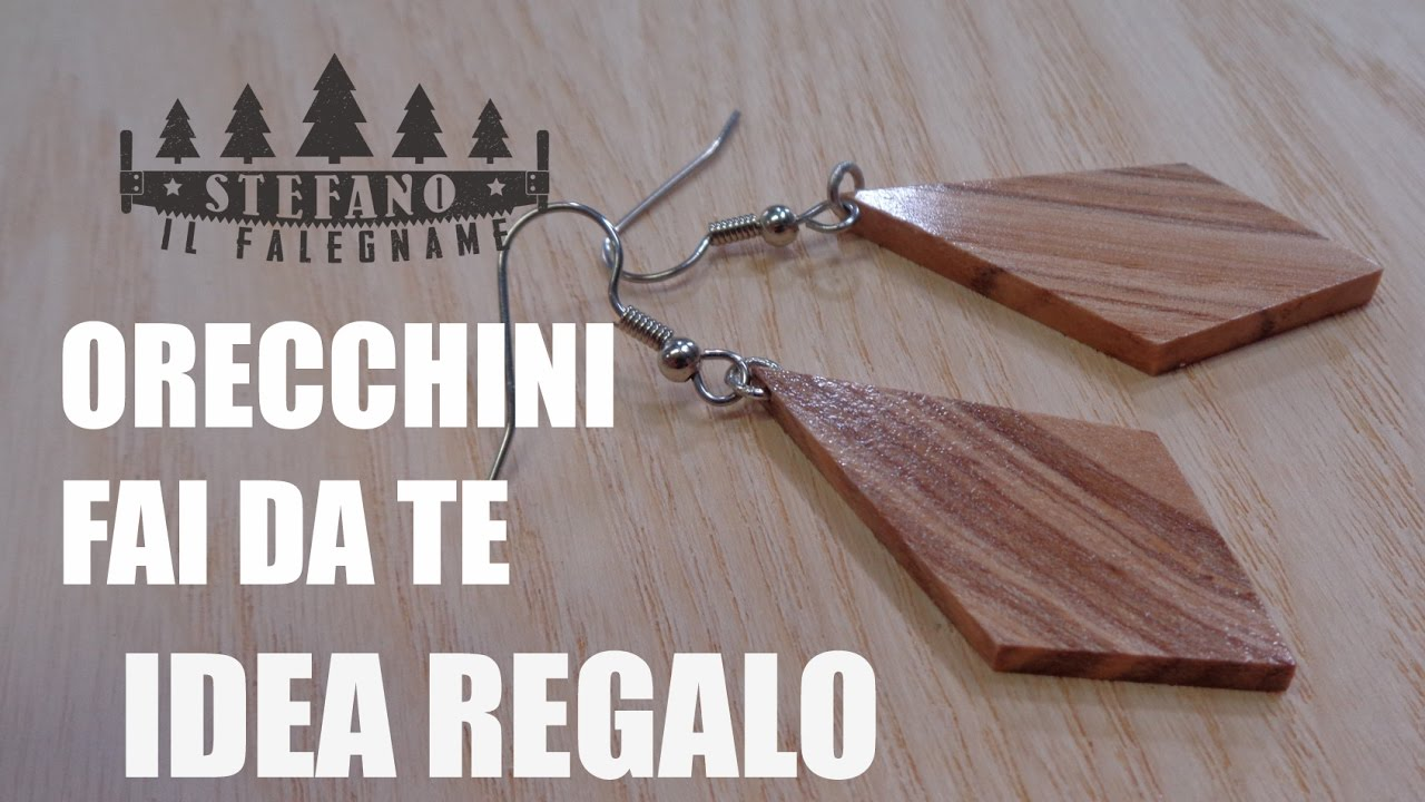 Orecchini In Frassino Idea Regalo Fai Da Te