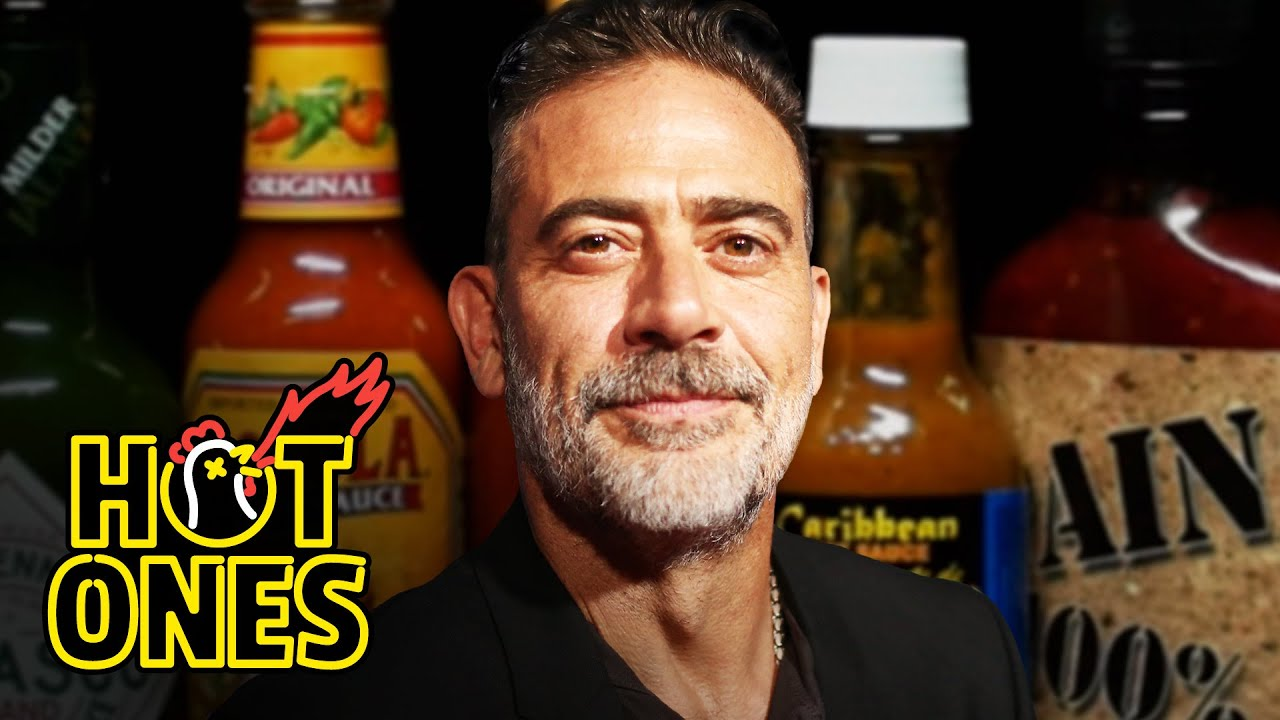 Download Jeffrey Dean Morgan Can't Feel His Face While Eating Spicy Wings   Hot Ones