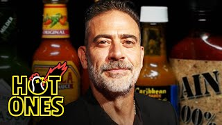 Jeffrey Dean Morgan Can't Feel His Face While Eating Spicy Wings | Hot Ones