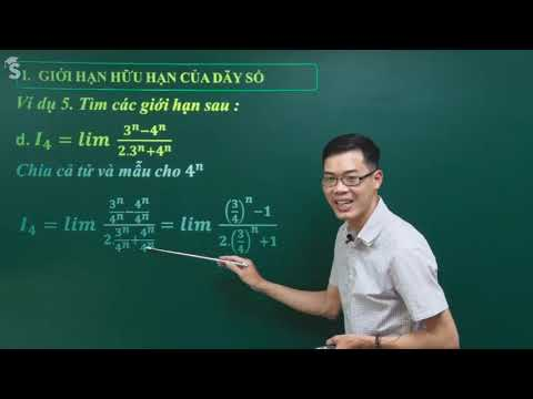 Giới hạn dãy số dạng phân thức – Toán 11- Thầy Nguyễn Công Chính