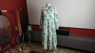 Обзор платья из софта, широкого кроя в стиле Бохо