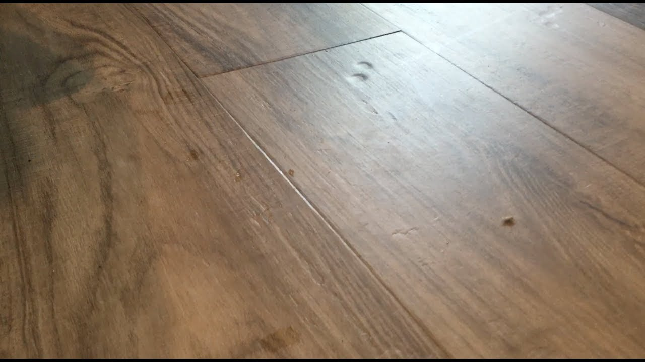 Nucore Luxury Vinyl Plank Lvp Flooring Dents Issues Youtube