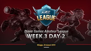DUNIA GAMES AMATEUR LEAGUE WEEK 3 DAY 2 - MOBILE LEGENDS