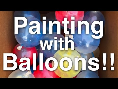 DIY: Painting with Balloons!!