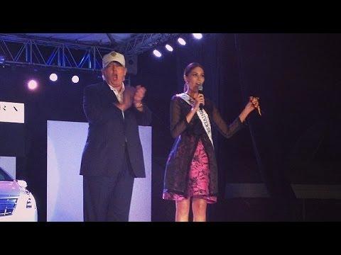 Miss Universe 2013, Gabriela Isler y Donald Trump hablan de Venezuela, Carolina Herrera Fashion Show