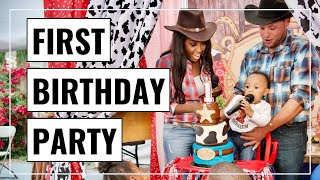 KAI'S FIRST BIRTHDAY PARTY | Wild West Theme Party! | SAHM - ABIE K