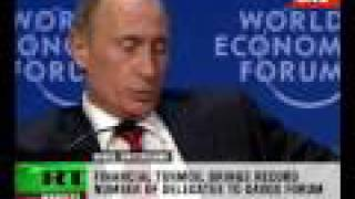 Putin answers questions at Davos