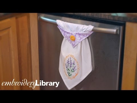 Embroidered Topsy Towel