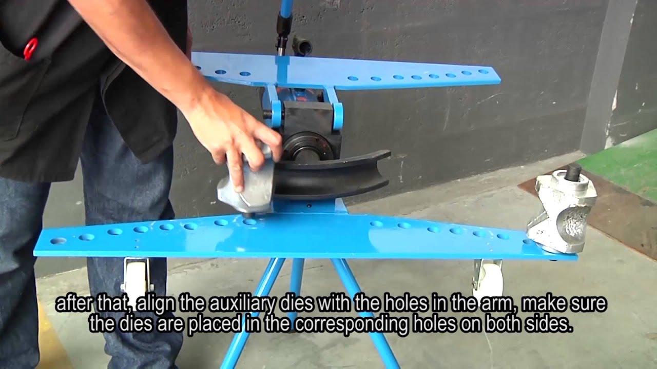 Hydraulic Pipe Bender - BOVENAU - YouTube