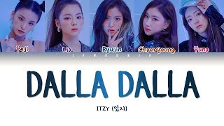ITZY (있지) - DALLA DALLA (달라달라) (Color Coded Lyrics Han/Rom/Eng 작사 ) |Jendukie