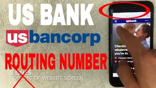 ✅  US Bank ABA Routing Number - Where Is It?  🔴