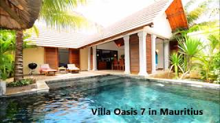 Villa Oasis 7 for rent in Mauritius, with private swimming pool and housemaid