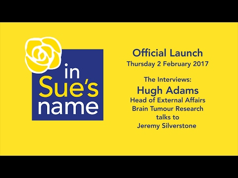 Official launch - interview with Hugh Adams from the 'Brain Tumour Research' charity