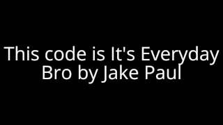 Roblox música código Jake Paul é todos os dias bro